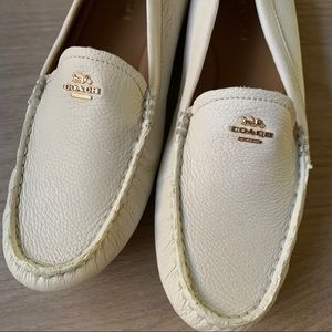 Coach Amber Driving Moccasin  Loafer White